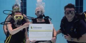 Underwater BSAC cheque presentation