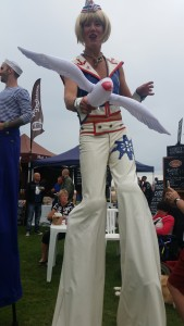 Stilt walker at the Carnival