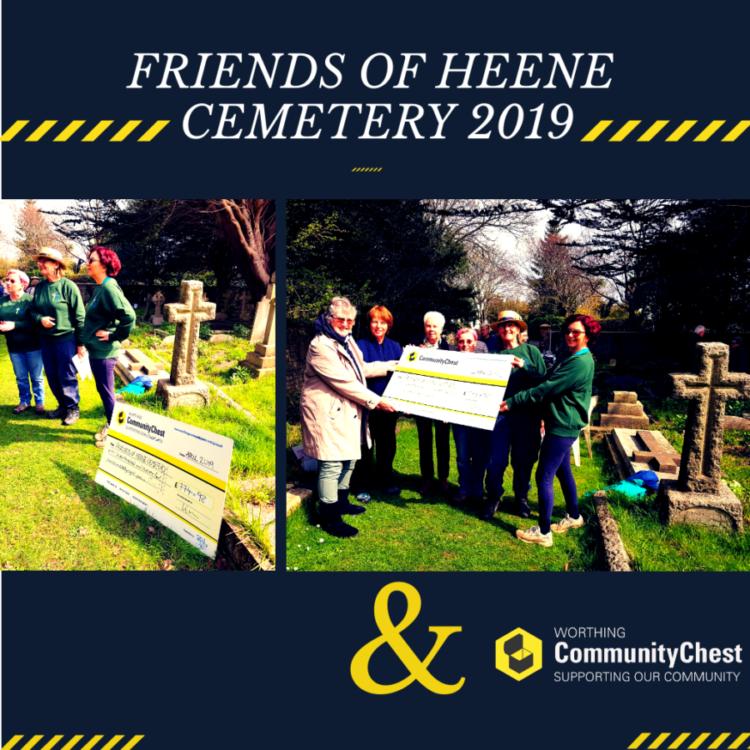 Friends of Heene Cemetery Cheque Presentation