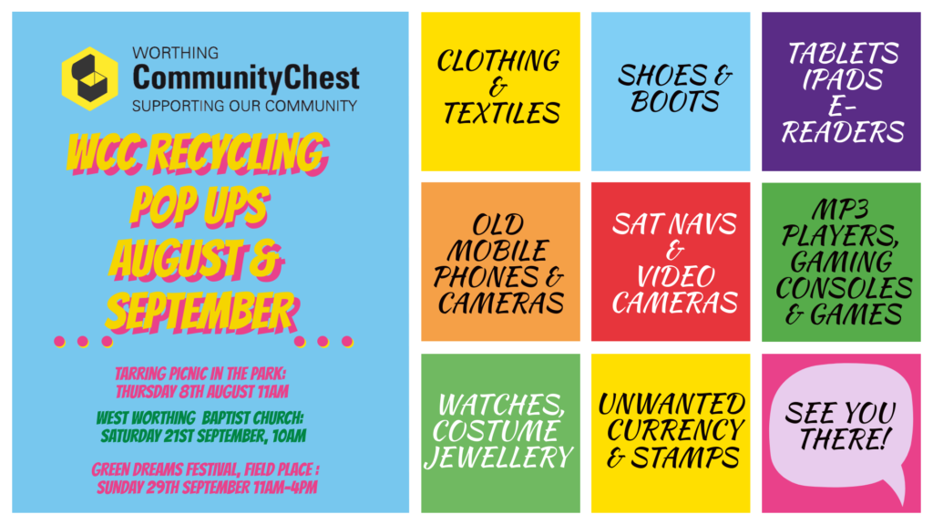 Worthing Community Chest Recycling And Pop Up Events